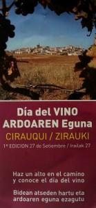 Tríptico Día del vino