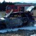 Apagan un coche ardiendo en Villatuerta