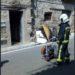 Un incendio en una vivienda de Viana necesita de la rápida intervención de los bomberos