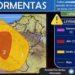 Advierten del riesgo de fuertes tormentas, que podrían ir acompañadas de granizo en Tierra Estella