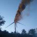 Incendio de un aerogenerador en Aguilar de Codés