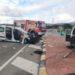 Cuatro heridos tras el choque entre dos furgonetas en Allo